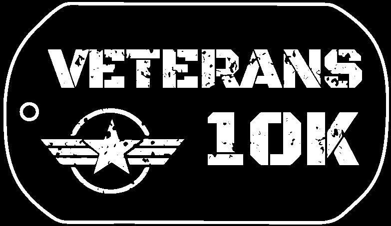 Veterans 10K Logo White
